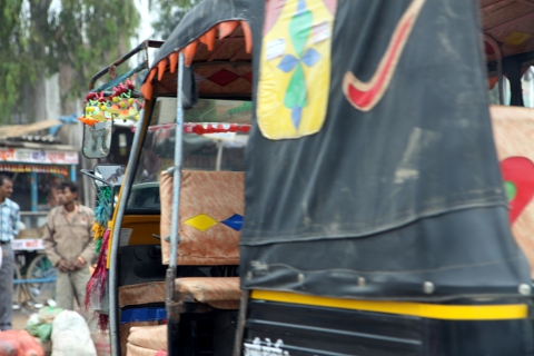 Rajasthanis prefer more colorfully decorated vehicles than their Delhi counterparts